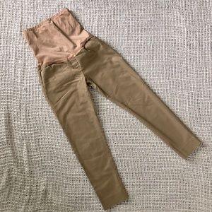 Gap maternity cropped khaki pants